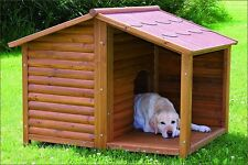 Outdoor Wooden Dog House Pet Shelter Weatherproof Kennel Bed Cabin  Pitched Roof