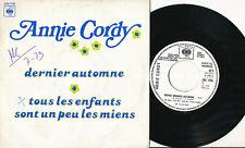 ANNIE CORDY 45 TOURS FRANCE PROMO DERNIER AUTOMNE