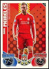 Raul Meireles #172 Liverpool Topps Match Attax 2010-11 Football Card (C602)