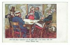 John Bull Plays Commerce, Political Comic Postcard.