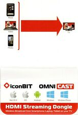 Iconbit Omnicast HDMI WiFi Streaming Dongle - Phone/Tablet/PC to TV - VGC