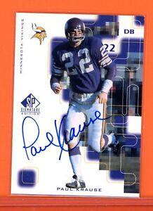 PAUL KRAUSE Signed 1999 SP Signature Edition #PK Auto VIKINGS HOF AUTOGRAPH 🚨