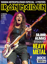 IRON MAIDEN Special Spanish Magazine + 4 Posters - August 2018 - STEVE HARRIS