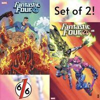 🔥 FANTASTIC FOUR #24 SET OF 2 FORTNITE Main Cover + Camuncoli Variant NM