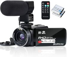 Video Camera Camcorder IR Night Vision HD 1080P Vlogging Camera Recorder 16X