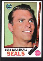BERT MARSHALL 1969/70 TOPPS HOCKEY CARD #80 SEALS