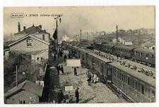 Ak Athus Gare Stazione 1915 Timbro Bahnhofskommandantur Treno Interno