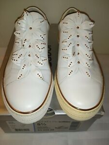 New Woman's Gabor Size 8US/UK5.5 Leather White Athletic Comfort Shoe Slip on