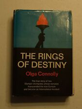 THE RINGS OF DESTINY BY OLGA CONNOLLY HC DJ 1968 2ND PRINT SIGNED BY OLGA  BX32
