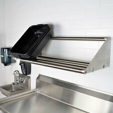 "42"" Wall Mounted NSF Stainless Steel Restaurant Glass / Dish Rack Shelf"