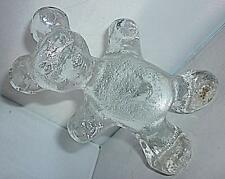 RETRO CRYSTAL ART GLASS BERGDALA TEDDY BEAR PAPERWEIGHT 14cm HIGH NORDIC SWEDEN