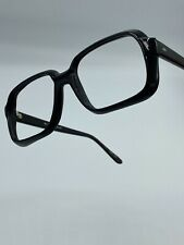 1980's Men's Black 54-20-145 Eyeglass New Old Stock similar to Cazal Goliath