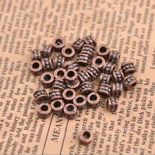 50/100Pcs Tibetan silver big hole 3MM flowers Spacer beads Jewelry  JK3086