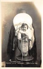 RPPC Squaw Papoose Pocatello, Idaho Native American Indians Vintage Postcard