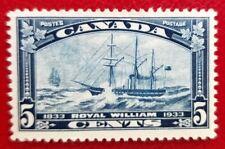 "Canada #204 Mint VF OG LH 5c dark blue ""1933 Royal William"""