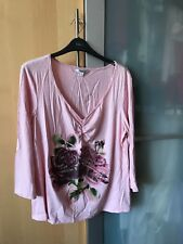 A BRAND NEW WITH TAGS SIZE 16 M&Co LADIES LONG SLEEVE TOP IN PALE PINK