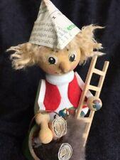 German wooden incense Smoker figurine chimney sweep Erzgebirge wood artist
