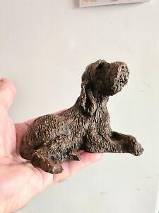 Italian Spinone figurine ornament model in cold cast bronze /resin