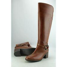 Marc Fisher Kacee Wide Calf Women US 8 Brown Knee High Boot Blemish  17318