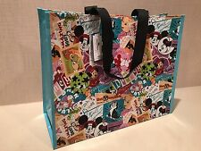 DISNEY WORLD DISNEYLAND RETRO DESIGN REUSABLE SHOPPING TOTE AND UNIQUE GIFT BAG