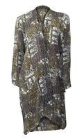 Marks & Spencer 'Twiggy' brown print chiffon kimono with split sides