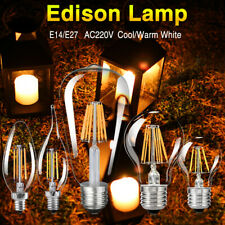 E27 E14 Retro Edison Filamento 220V LED lampadina Annata Fiamma Luce lampade DF