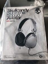 cuffie on ear Skullcandy Supreme Sound Aviator Rocnation Bianco iPhone iPod iPad