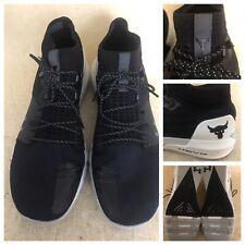Under Armour UA PROJECT ROCK 2 Black/White Training Shoes 3022024-001 Men Sz 14
