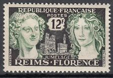 FRANCE TIMBRE NEUF N° 1061 ** JUMELAGE REIMS FLORENCE