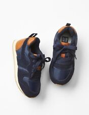 GAP Baby / Toddler Boy Size 5 Navy Blue Orange Sneakers Trainers Athletic Shoes