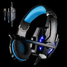 Blue G9000 Gaming Headphone Headset Earphone USB Led 3.5MM Over Ear Mic For PS4