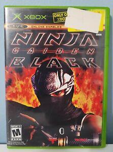 Ninja Gaiden Black (Microsoft Xbox, 2005) COMPLETE W Manual