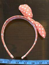 Dotty Bow Pink White Cute Hair Head Band Alice