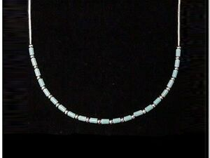 Liquid Silver Necklace with Turquoise - Authentic Native American jewellery