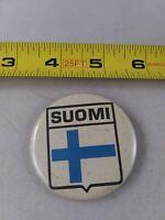 Vintage SUOMI Finland pin button pinback *QQ1