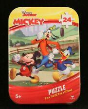 "Disney - Mickey, Donald & Goofy - 24 Piece - Mini Puzzle in Tin - 5"" x 7"" Puzzle"