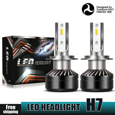 H7 LED Headlight Bulbs Kit High Low Beam 40W 3200LM Bright White 6000K X