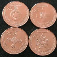 2017 25 Cents ANZAC Centenary Medals Set of 4 Coins Specimen UNC