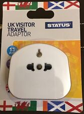 Status UK Visitor Plug Adaptor (White)