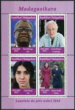 Madagascar 2019 MNH Nobel Prize Winners 2018 4v M/S Peace Physics Stamps
