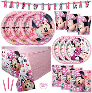 Pink Minnie Mouse Bowtique Birthday Party Supplies Set Serves 16 Banner Decor
