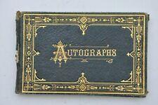 1870's AUTOGRAPH GREETING ALBUM BOOK from MASSACHUSETTS nice ARTWORK