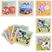 Cartoon Kids Educational Toys Baby 3D Wooden Learning Geometry Puzzle Learn Toy