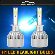 2x High Power H1 CREE COB  LED Headlight Bulbs Kit High Low Beam 8000K Ice Blue
