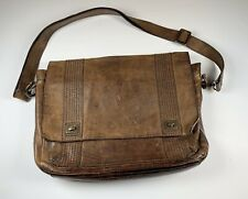 Fossil Full Leather Messenger Bag Briefcase Crossbody Bag