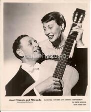 JOSEF MARAIS & MIRANDA Singer International Balladeers Guitar 1940s Promo Photo