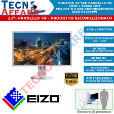 """Monitor 23"""" LED 16:9 1080P Full HD Pannello TN Ricondizionato Eizo EV2316W"""