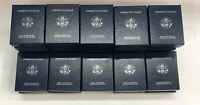 Lot of (25) Random U.S. Mint American Eagle 1 Oz Silver Proof Box COA NO COINS