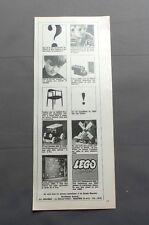 PUB PUBLICITE ANCIENNE ADVERT CLIPPING 020617 JEUX BRIQUE EN PLASTIC LEGO SYSTEM