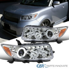 For Scion 08-10 xB Clear Lens LED Halo Projector Headlights Head Lights Lamps